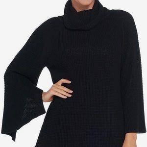 H by Halston Turtleneck Sweater w/open side seam